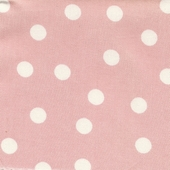 Soft Pink Polka Dot Fabric