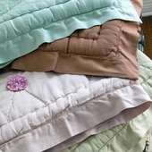 Solid Sateen Quilted Crib Coverlet