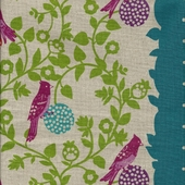 Songbird Teal Fabric