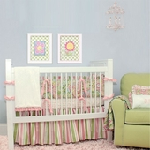 Spring Paisley Crib Bedding Set