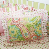Spring Paisley Decorative Throw Pillow