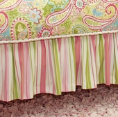 Spring Paisley Gathered Bed Skirt