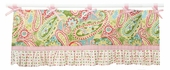 Spring Paisley Window Valance