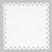 Square Dot Magnet Board in White