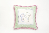 Squirrel Dot Throw Pillow