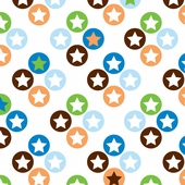 Star Dot Fitted Crib Sheet