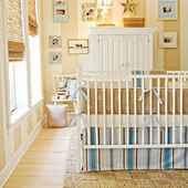 Starlight in Blue 2-Piece Crib Bedding Set