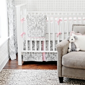 Stella Gray 2-Piece Crib Bedding Set