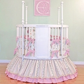 Stephanie Anne Round Crib Bedding