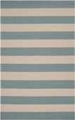 Stormy Sea Stripe Rain Hand-Hooked Outdoor Rug
