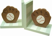 Striped Baseball Bookends