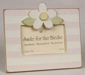 Striped Daisy Pink Picture Frame