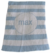 Striped Personalized Blanket