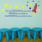 Stronger. Braver. Smarter. Custom Wall Decal