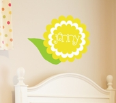 Sunshine Bloom Custom Personalized Wall Decal