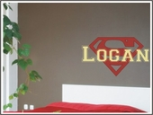 Superman Custom Personalized Wall Decal