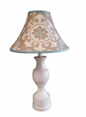 Suzani Khaki Medium Pedestal Lamp