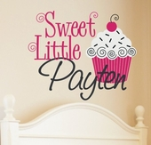Sweet Cupcake Custom Personalized Wall Decal