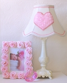 Sweetest Pink Heart Ivory Table Lamp