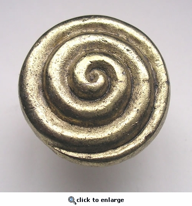 Swirl Drawer Pull in Gold