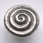 Swirl Drawer Pull in Silver