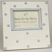 Swiss Dots Blue Picture Frame