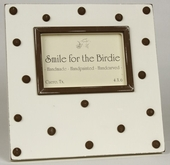 Swiss Dots Chocolate Picture Frame