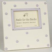 Swiss Dots Lavender Picture Frame
