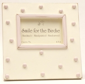 Swiss Dots Pink Picture Frame