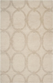 Tan Ovals Candice Olson Hand-Tufted Rug
