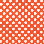 Tangerine Dot Fabric