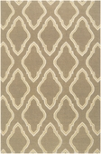 Taupe Fancy Diamond Fallon Hand-Woven Rug
