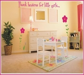 Thank Heaven For Little Girls/Boys Custom Wall Decal