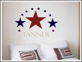 Three Stars Custom Personalized Wall Decal