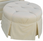 Tiara Adult Park Avenue Round Stationary Ottoman