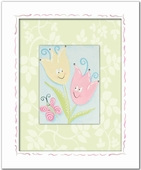 Tiptoe Tulips with Butterfly Custom Framed Giclee Print