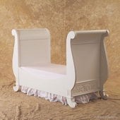 Toddler Bed Kit in White - Chelsea Sleigh Crib