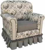 Toile Black Adult Continental Glider Rocker Chair - Foam or Down