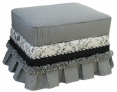 Toile Black Adult Empire Ottoman - Stationary or Glider