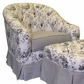 Toile Black Adult Park Avenue Glider Rocker Chair - Foam or Down