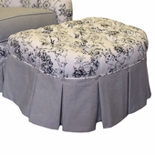 Toile Black Adult Park Avenue Stationary Ottoman