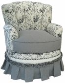 Toile Black Adult Princess Glider Rocker Chair - Foam or Down