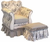 Toile Black Child Empire Chair