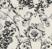 Toile Black Upholstery Fabric