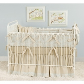Toile Blue Crib Bedding Set