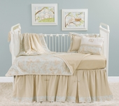 Toile Blue Toddler Coverlet & Pillow