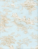 Toile Blue Upholstery Fabric