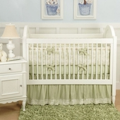 Toile Green Crib Bedding Set