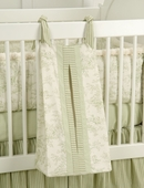 Toile Green Diaper Stacker
