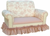 Toile Pink Child Club Loveseat